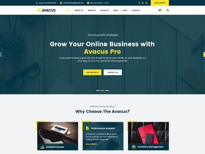 Avacus | Responsive Multipurpose Bootstrap Template