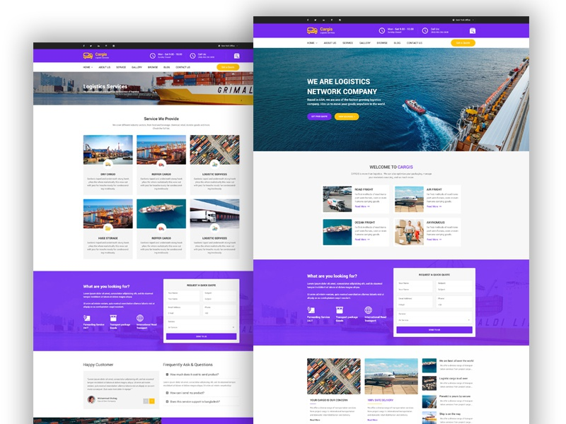 Cargis Transport Logistics Html Template By Abdullah Al Imran