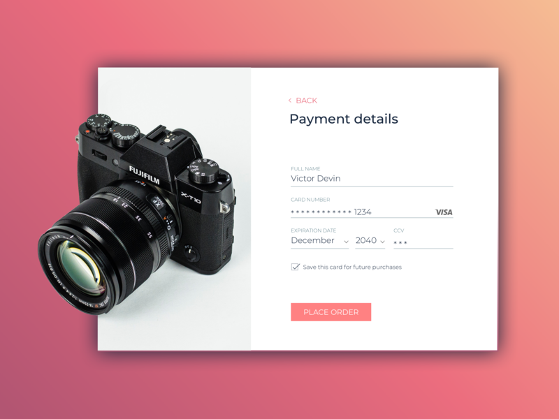 Daily UI 002 - Credit card checkout daily 100 challenge daily 100 ui checkout form dailyui002 daily dailyui