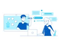 Momentum Design System teamwork illustration