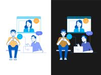 Webex teamwork illustration color test