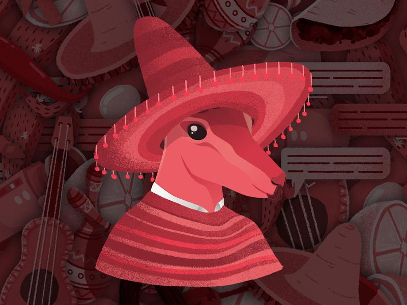 Arturito montreal antilope antelope sombrero illustration red mexican mexico illustrator arturito arthur
