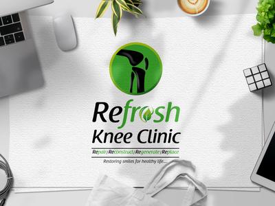 Refresh Knee Clinic | Logo Design