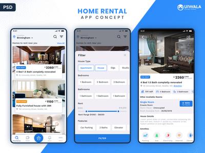 Home Rental App UI