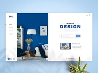 Landing Page Concept for Interior Design