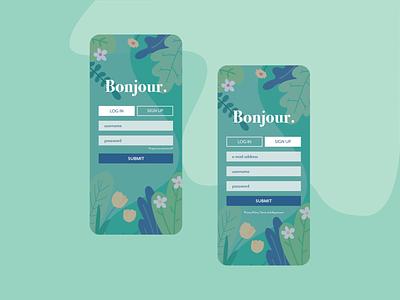 Daily UI 1: Sign Up app ui design