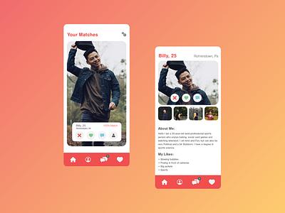 Daily UI 6: Profile minimal app design ui