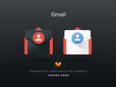 #1 - Gmail paperkraft customisation android material design icon gmail icon pack
