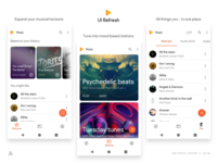 Google Play Music - UI refresh - Material 2.0