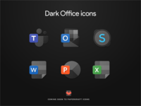 Microsoft Office icons - Dark