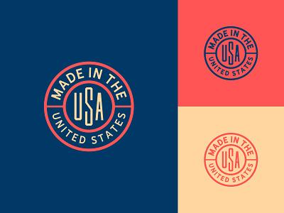 Made in USA badge usa
