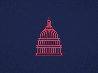 US Capitol Dome us capitol line icon