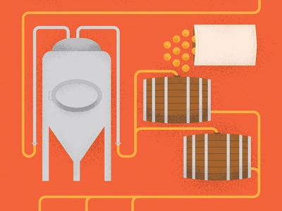 Sour Brewing illustration brewing beer sour