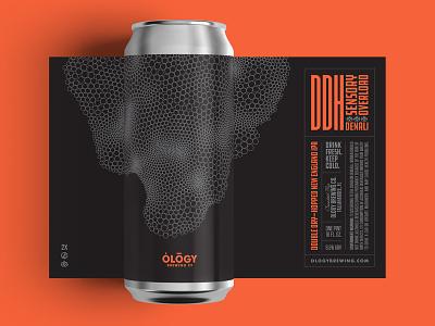 Ology DDH Tall Boy circles hoppy label beer