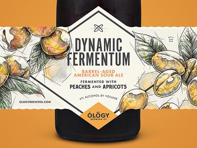 Dynamic Fermentum Peaches & Apricots label apricots peaches sour bottle beer