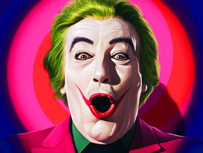 Cesar Romero Joker illustration cinema batman movie digital art movie poster digital arts digital painting joker