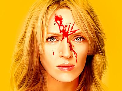 Kill Bill pop art color photoshop digital art digital painting portrait kill bill