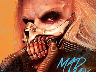 Mad Max illustration digital painting digital arts mad max