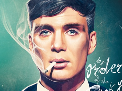 Thomas Shelby - Peaky Blinders portrait digital painting digital art illustration peaky blinders thomas shelby