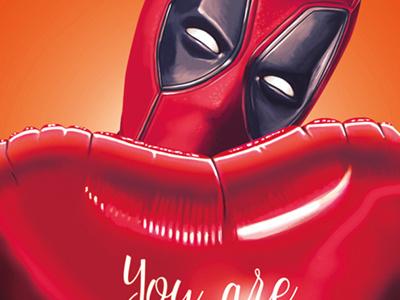 Happy Valentine's day - Deadpool illustration digital painting digital arts deadpool valentines day