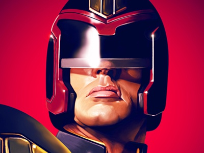 Judge Dredd illustration portrait digital art digital painting judge dredd