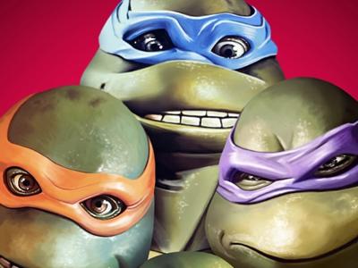 Ninja Turtles portrait illustration digital painting digital arts