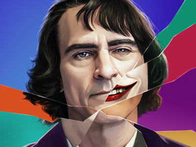 Arthur illustration portrait digital painting digital arts joaquin phœnix joker arthur