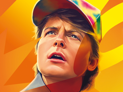 Marty McFly illustration portrait digital painting digital art marty mc fly back to the future