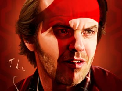 The Shining portrait digital painting digital art illustration stanley kubrick