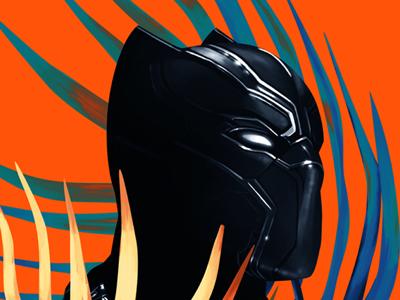Black Panther cinema portrait pop illustration digital painting digital arts black panther