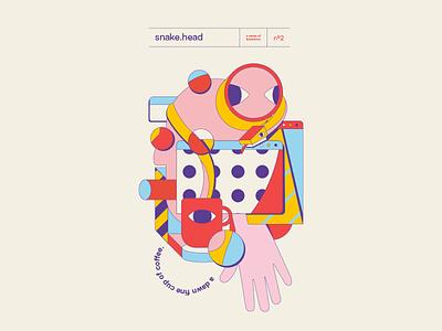 snakehead vector illustration design