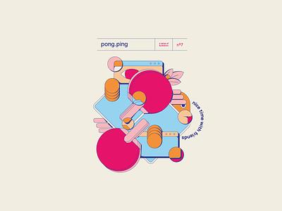 06 PingPong flat poster vector illustration design