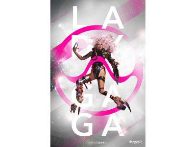 Lady Gaga x Adobe Poster contest vector typography design poster art poster
