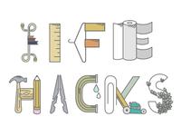 Life Hacks Hand Lettering