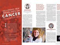 Delivering New Perspectives on Cancer - Magazine Layout