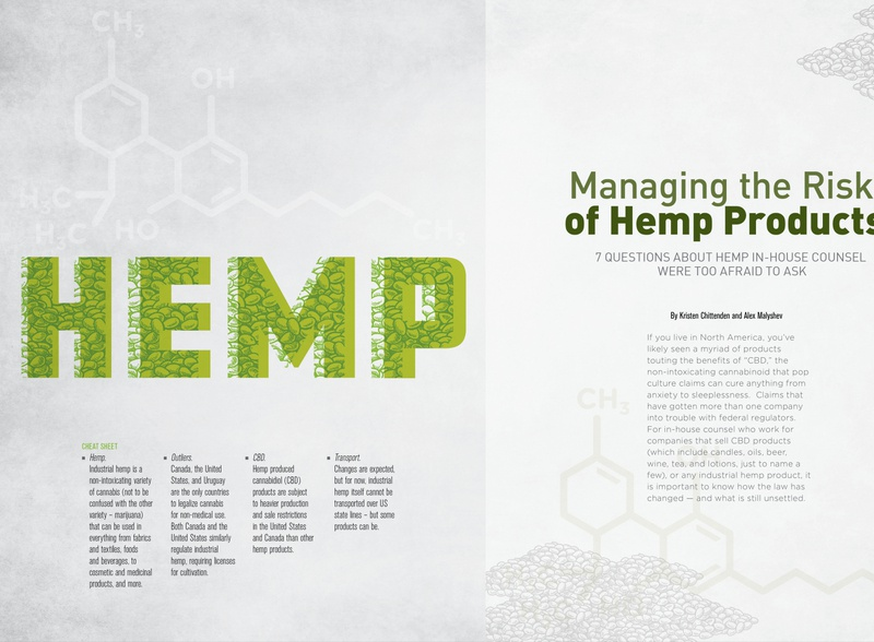 Hemp Article for ACC December 2010 lawyer business logo icon article design illustration spread typography feature magazine