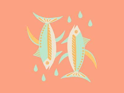 Deep Waters water ocean tattoo idea flat americana mexicana fish flat illustration illustration
