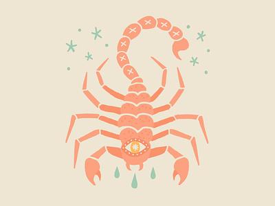 Bad Idea sting scorpio stars drops tears scorpion tattoo flat tattoo idea mexicana illustration flat illustration americana
