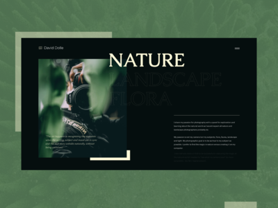 Nature Photographer - About Section