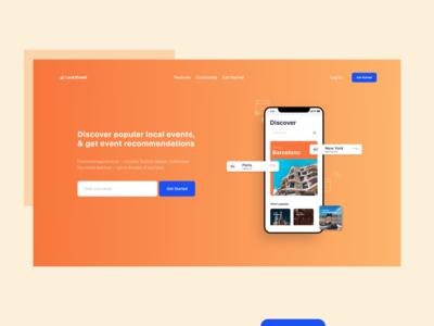 Event App - Landing Page
