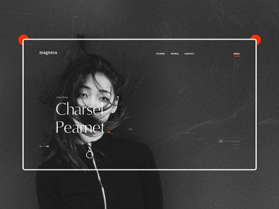 Photography/Blog - Homepage (hero section) design concept