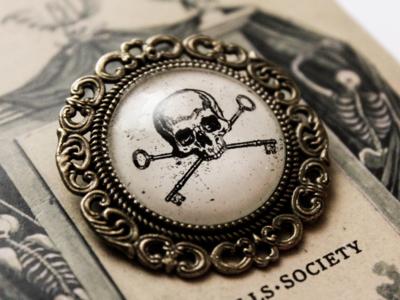 The Skulls Society Metal Pin Brooch