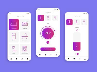 UI App Smart Home - Study flat app ux icon ui vector graphic  design illustration design
