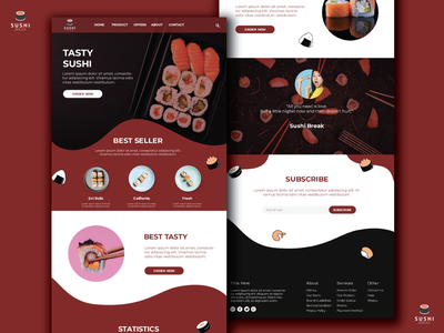 Sushi Break - Website website minimal logo branding design web ux ui graphic  design illustration