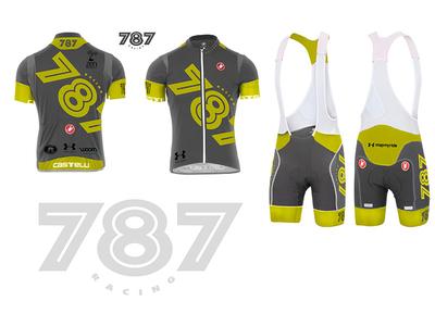 High visibility racing kit - cycling bib and jersey