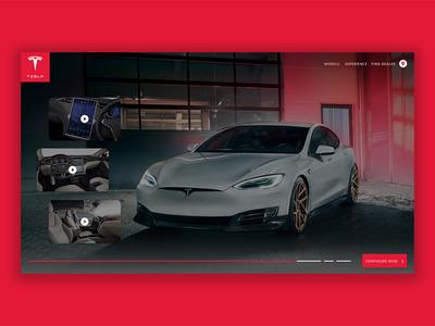 Tesla web app concept