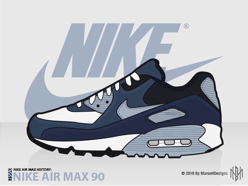 NAMH: Nike Air Max 90 by DeMarco Hill on Dribbble