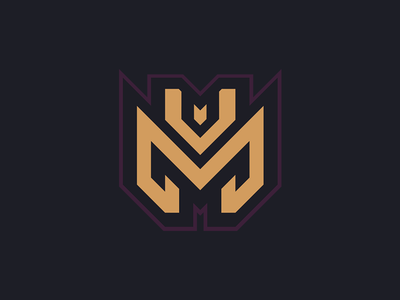 M + V Logo Design design organization designer clothing apparel brand game sports logotype logo identity esports branding gaming