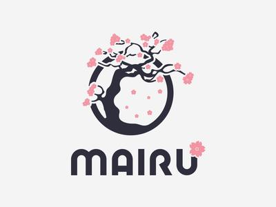 Mairu (Sakura) icon typography badge love pubg brand tree cherry blossom flower sakura game logotype logo identity esports branding gaming