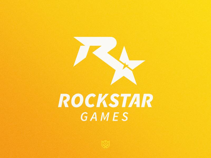 Rockstar Games Logo Redesign brand redesign sports game logotype logo identity esports branding gaming r star star rockstar